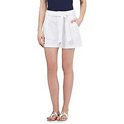 Mantaray - White linen blend shorts