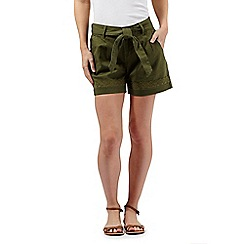 Mantaray - Khaki linen shorts
