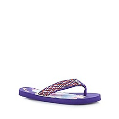 Mantaray - Purple print flip flops