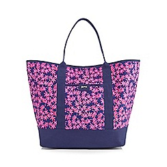 Mantaray - Navy floral tote bag