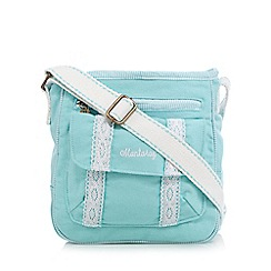 Mantaray - Aqua lace trim cross body bag