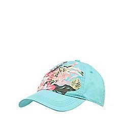 Mantaray - Aqua floral print cap