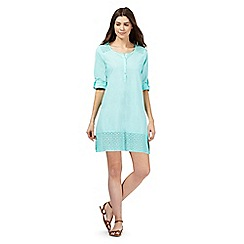 Mantaray - Aqua lace trim shirt