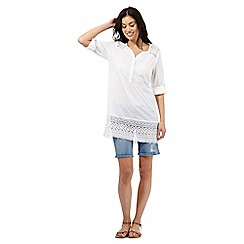 Mantaray - White lace trim shirt