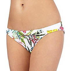 Mantaray - White floral print bikini bottoms