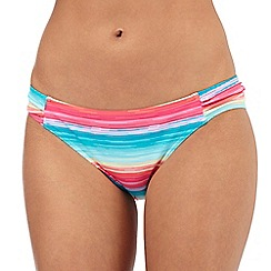 Mantaray - Multi-coloured striped print bikini bottoms