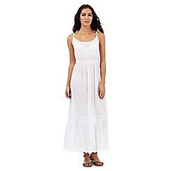 Mantaray - White embroidered maxi dress