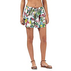 Mantaray - Multi-coloured botanical print shorts