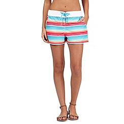 Mantaray - Multi-coloured striped print board shorts