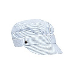 Mantaray - Light blue striped print baker boy hat