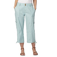 Mantaray - Light green cropped trousers