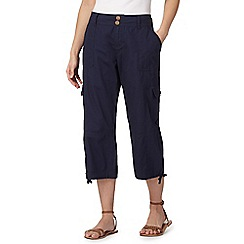 Mantaray - Navy cropped trousers