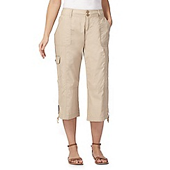 Mantaray - Natural cropped trousers