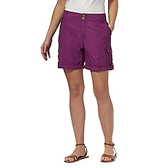 Mantaray - Purple poplin shorts