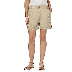 Mantaray - Natural poplin shorts
