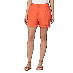 Mantaray - Orange poplin shorts
