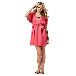 Beach Collection - Pink woven kaftan dress