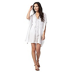 Beach Collection - White lace kaftan