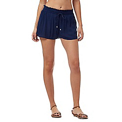 Beach Collection - Navy crepe shorts