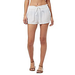 Beach Collection - White crepe shorts
