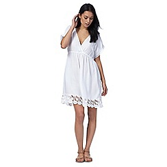 Mantaray - White lace trim kaftan