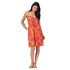Mantaray - Orange Hawaiian flower print cami dress