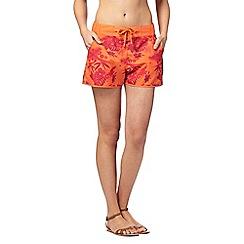 Mantaray - Orange tropical floral print board shorts