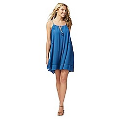 Beach Collection - Blue strappy slip dress