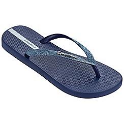 Ipanema - Sparkle navy flip flops