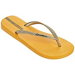Ipanema - Sparkle yellow flip flops