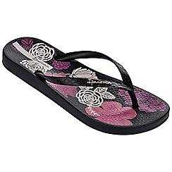Ipanema - Petal v black flip flops