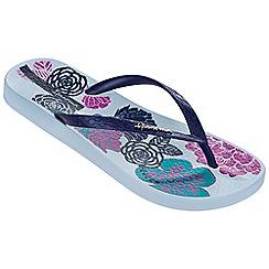 Ipanema - Petal v blue flip flops
