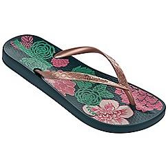 Ipanema - Petal v green flip flops