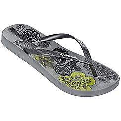 Ipanema - Petal v grey flip flops