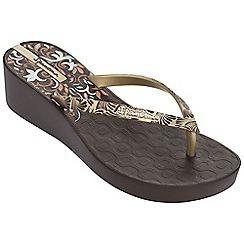 Ipanema - Deco III platform brown flip flops