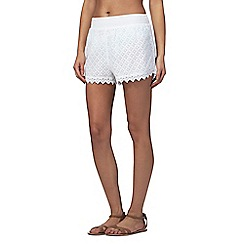 Reger by Janet Reger - White lace shorts