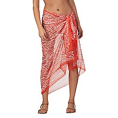 J by Jasper Conran - Orange spot print sarong