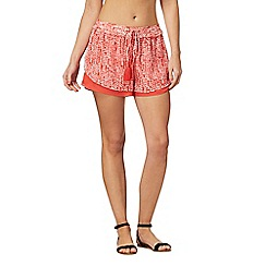 J by Jasper Conran - Red printed shorts
