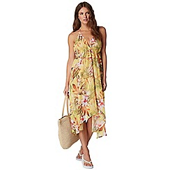 Butterfly by Matthew Williamson - Yellow floral print dress