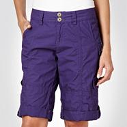 Purple Lightweight Cargo Shorts