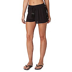 Butterfly by Matthew Williamson - Black mirrored diamond detail shorts