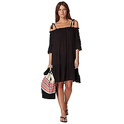 Butterfly by Matthew Williamson - Black off the shoulder dress