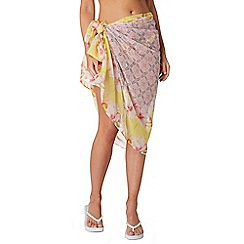 Butterfly by Matthew Williamson - Yellow floral print sarong
