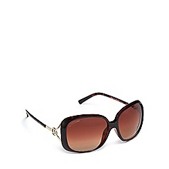 Lipsy - Brown tortoiseshell oversized sunglasses