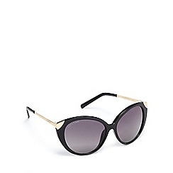 Lipsy - Black gold trim cat eye sunglasses