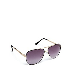 Lipsy - Black diamante aviator sunglasses