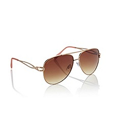 Lipsy - Gold aviator sunglasses