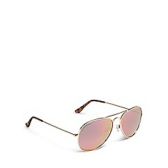 Lipsy - Rose gold tinted aviator sunglasses