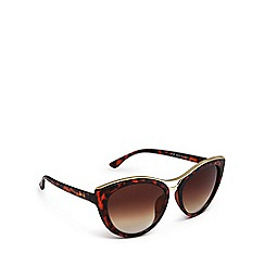 Lipsy - Brown tortoiseshell cat eye sunglasses