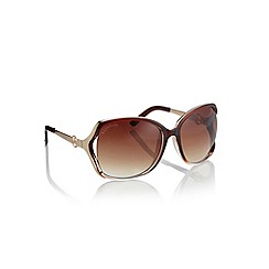 Lipsy - Brown oversized sunglasses